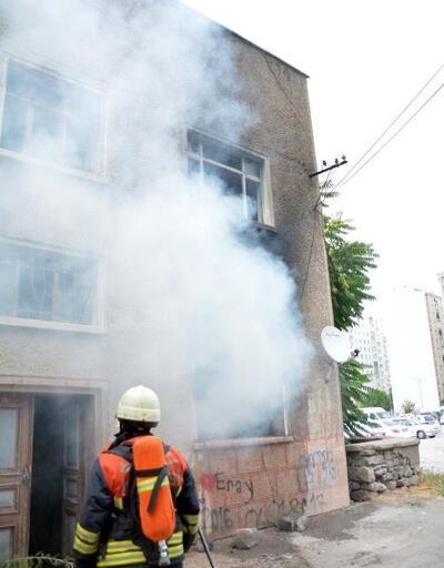 Kullanılmayan binada yangın çıktı