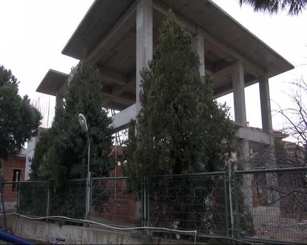 Validebağ korusuna yapılan cami yükselmeye devam ediyor