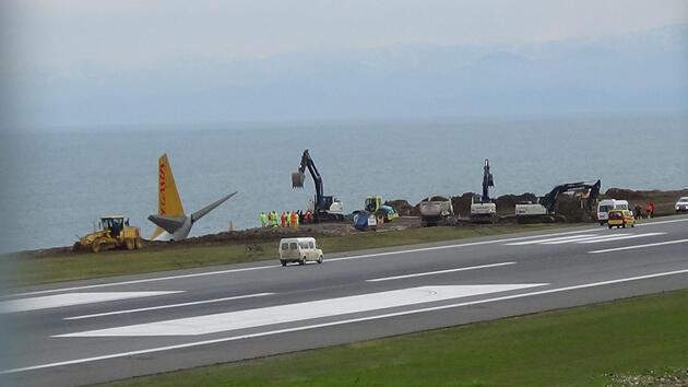 Trabzon'da pisten çıkan uçak için geri sayım başladı! İşte kurtarma planı