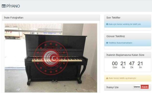 Arabadan piyanoya kadar satılıyor! Hem de çok ucuza...