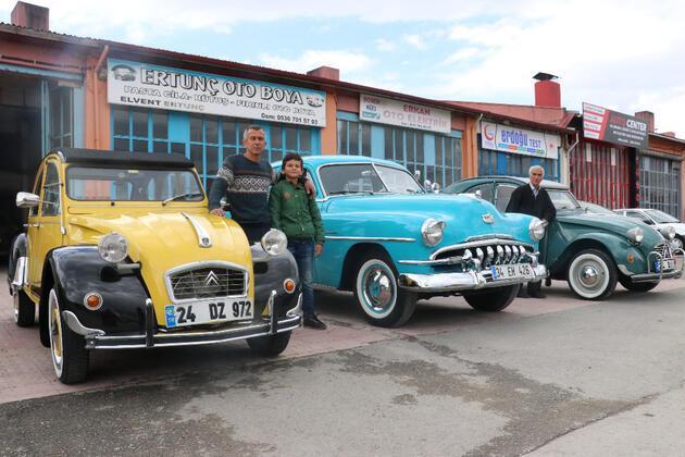 Baba ve oğul, hurda araçları klasik otomobillere dönüştürüyor