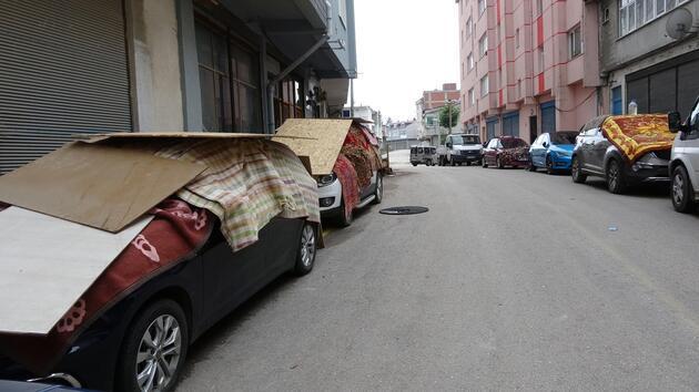 Ordu'da araçları doludan korumak için tahtalı önlem