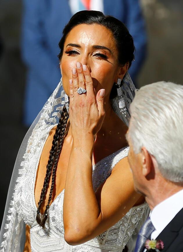 Dünya bu düğünü konuşuyor! Sergio Ramos Pilar Rubio ile evlendi