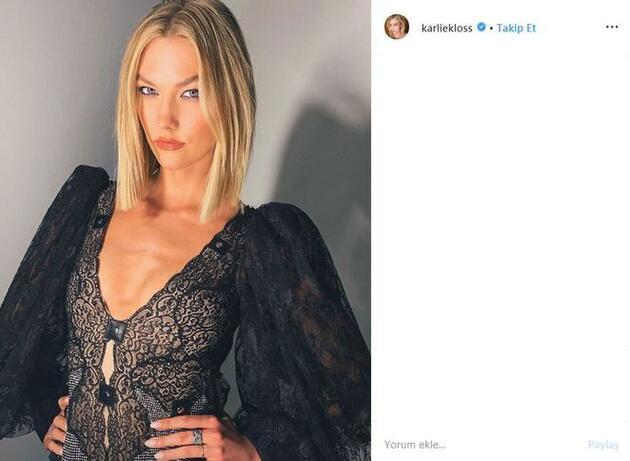 Karlie Kloss'dan örnek hareket