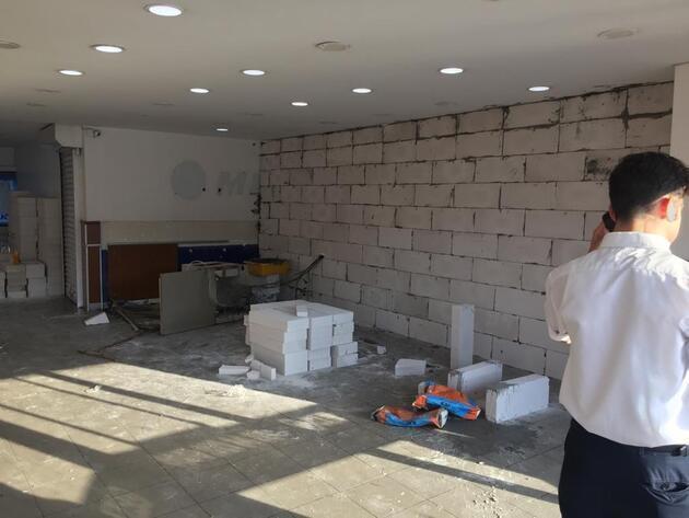 Otogar'da akılalmaz olay: Gece yarısı gelip duvar ördüler