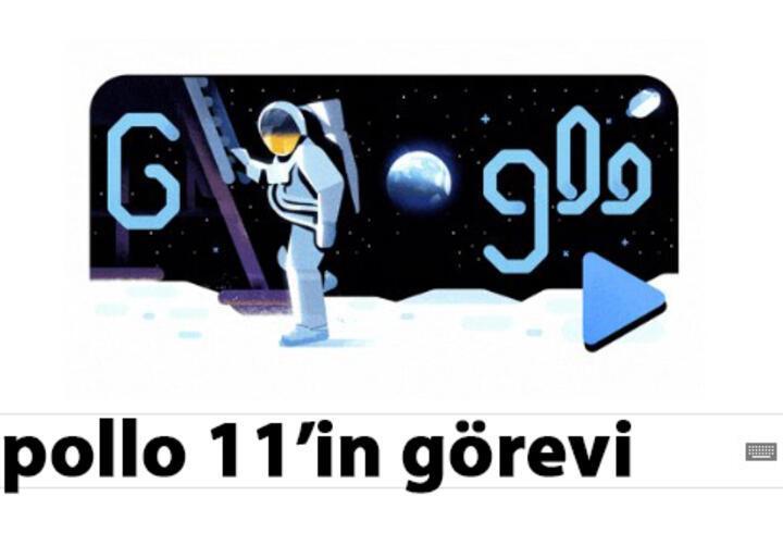 Apollo 11'in görevi Google'a doodle oldu!