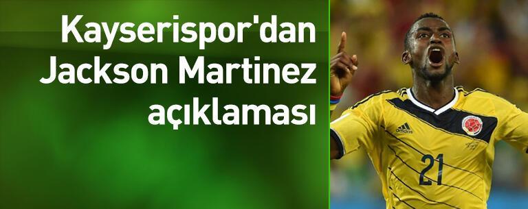 Kayserispor'dan Martinez açıklaması