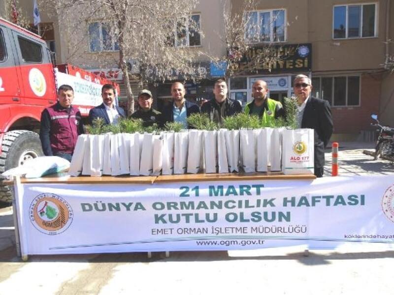 Hisarcık'ta 3 bin 500 fidan dağıtıldı