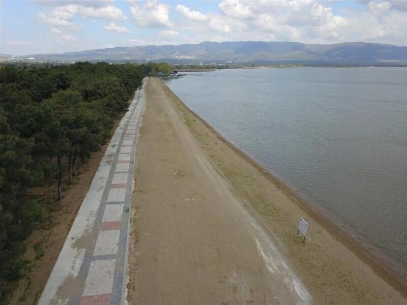 İznik gölünde sahil projesinde sona gelindi