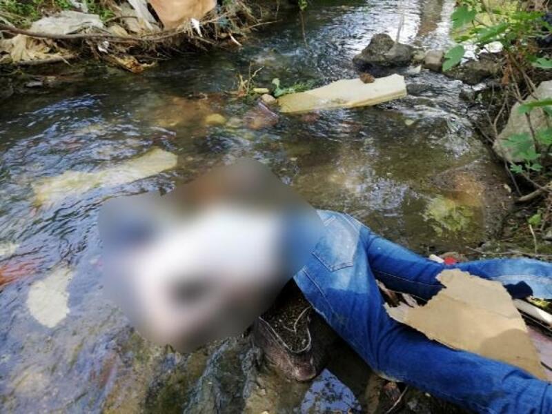 Dere yatağındaki erkek cesedin yanında uyuşturucu bulundu