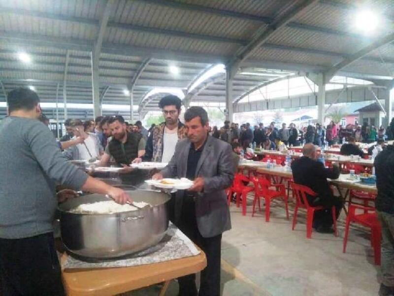 Hisarcık'ta iftar çadırı geleneği sürdürülüyor