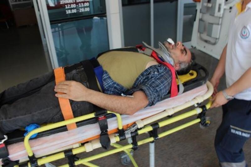4 metre yükseklikten düşen kaynak ustası yaralandı