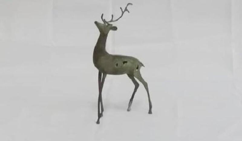 Siirt'te tarihi değeri olan geyik heykeli ele geçirildi