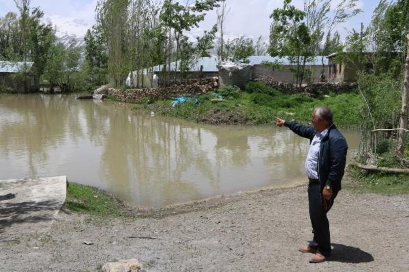 Yüksekova'da dere taştı, 7 ev 20 ahır sular altında kaldı