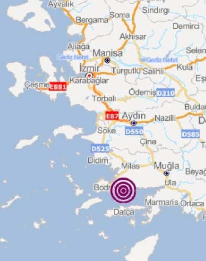 Gökova Körfezi'nde 4,6 büyüklüğünde deprem
