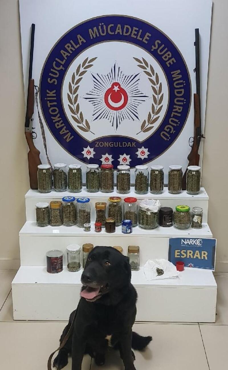Zonguldak'ta, 1 ayda 16 kişi uyuşturucudan tutuklandı