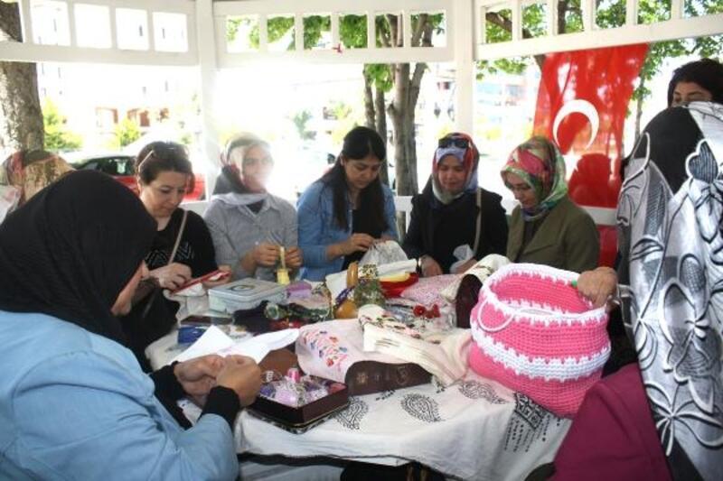 Tokat'ta kadınlar için açık havada kurs etkinliği