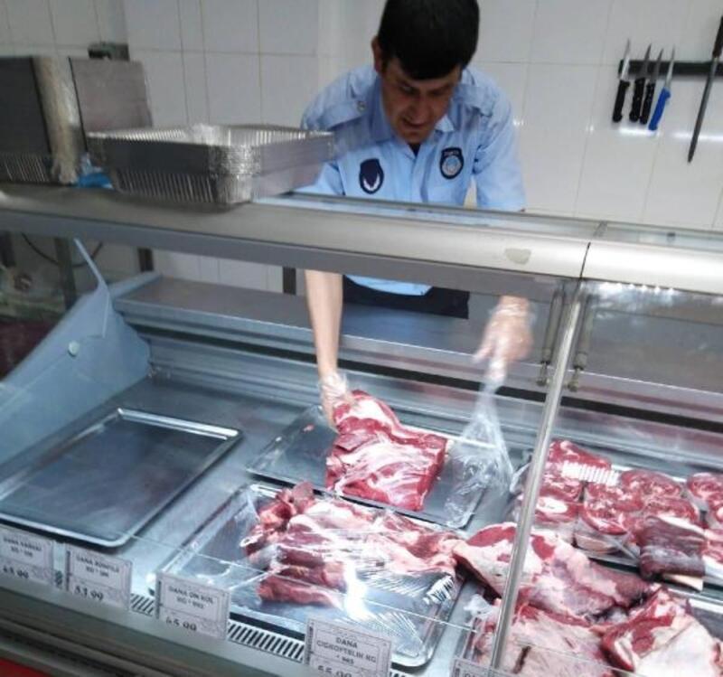 İslahiye'de kasap ve marketlerde et denetimi