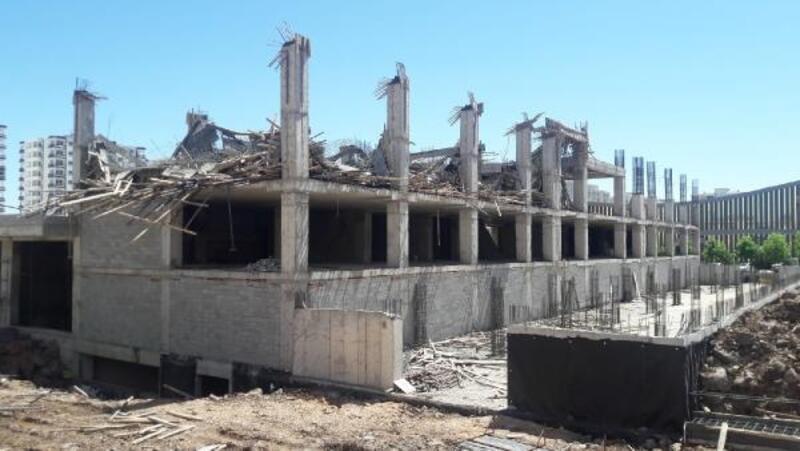 Diyarbakır'da inşaatta çökme: 3 yaralı