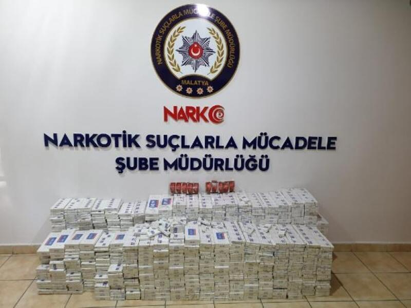 Malatya'da 6 bin 170 kaçak sigara ele geçirildi