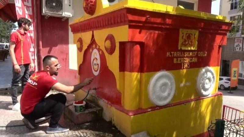 Sinop'ta çeşmeler sarı-kırmızıya boyandı