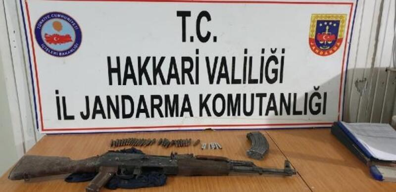 Hakkari'de PKK'nın silah ve mühimmatı ele geçirildi