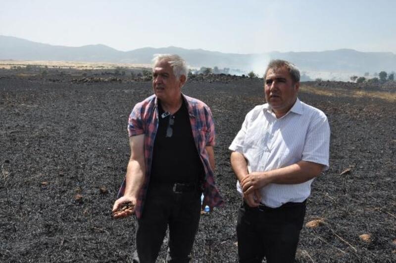 İslahiye'de 280 dönüm ekili arpa yandı