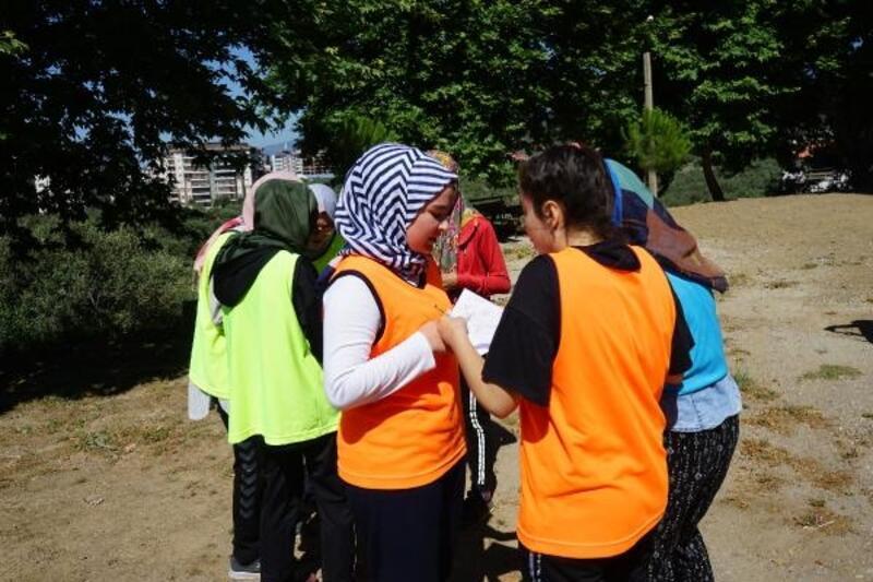 Liselere Geçiş Sınavı'na oryantiring ile hazırlandılar