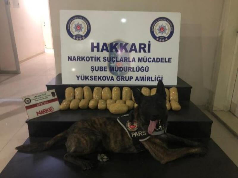 Yüksekova'da 13,5 kilo eroin ele geçirildi