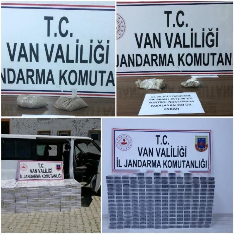 Van'da uyuşturucu, kaçak sigara ve göçmen operasyonu