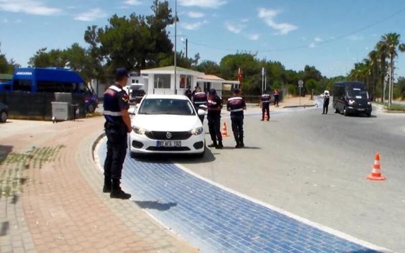 Jandarmadan drone destekli yol kontrolü