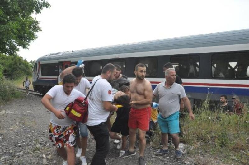 Trenin çarptığı Melisa'nın ayağı kırıldı