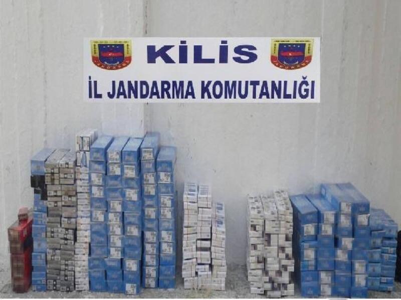 Sınır hattında 15 bin paket kaçak sigara ele geçirildi
