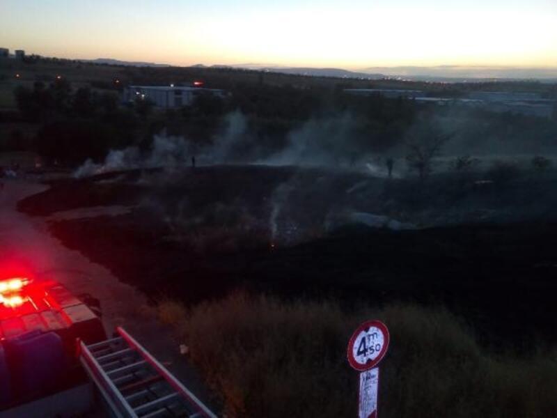 Malatya'da arazide yangın