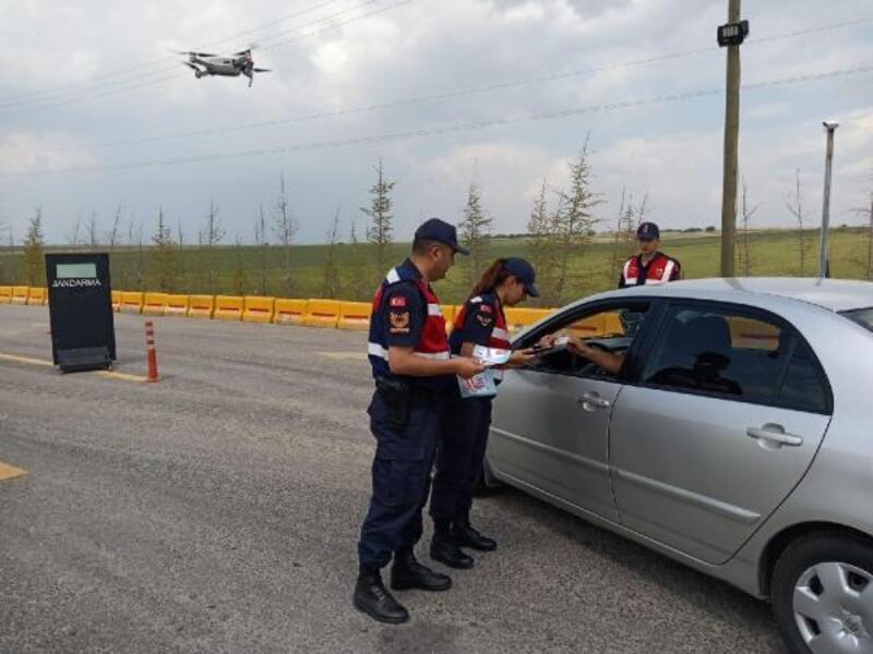 Eskişehir'de 'drone' ile trafik denetimi