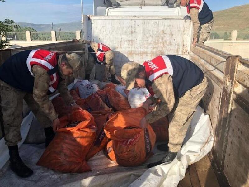 TIR'da, kaçak avlanan 2 ton inci kefali ele geçirildi