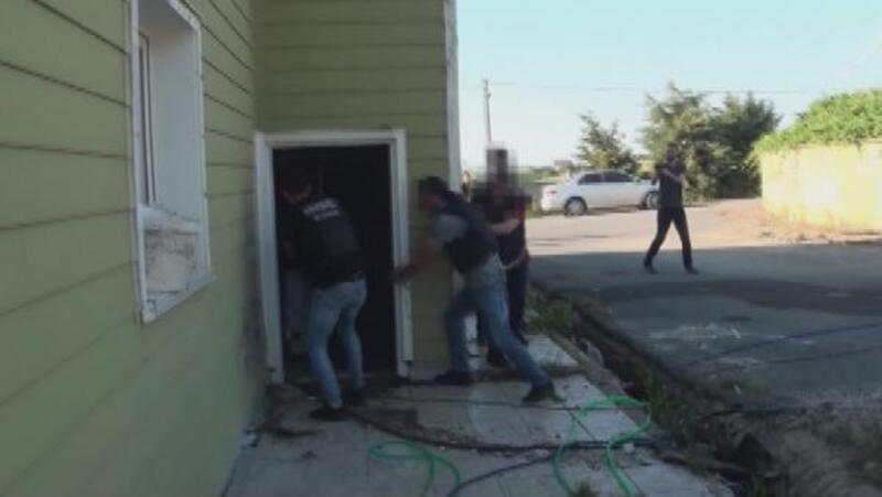 Silivri'de villalara uyuşturucu baskını