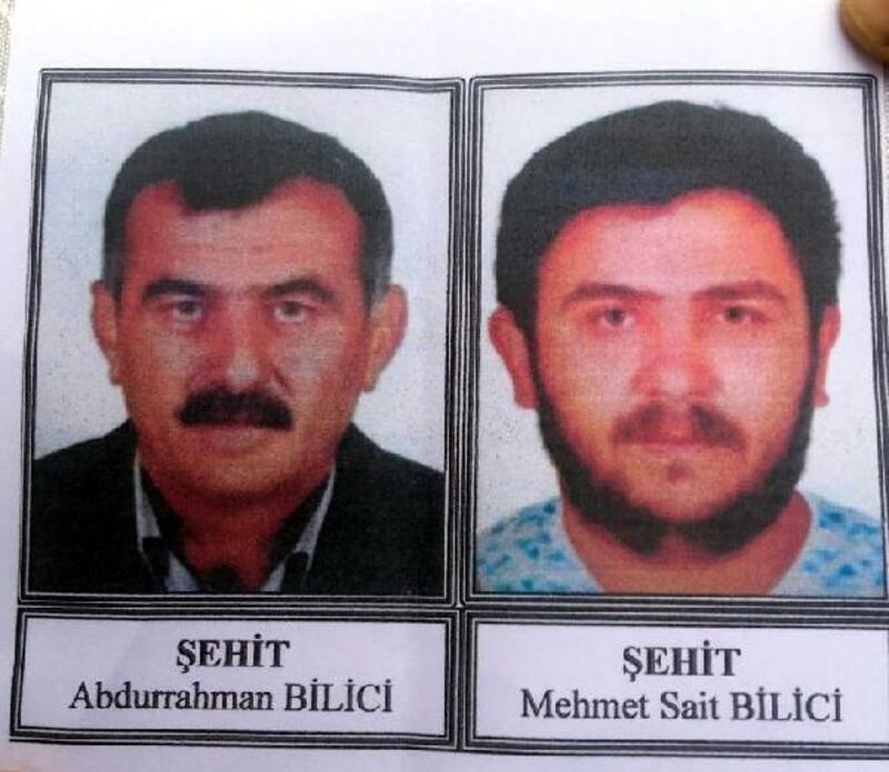 PKK saldırısında şehit olan amca ile yeğeni son yolculuklarına uğurlandı