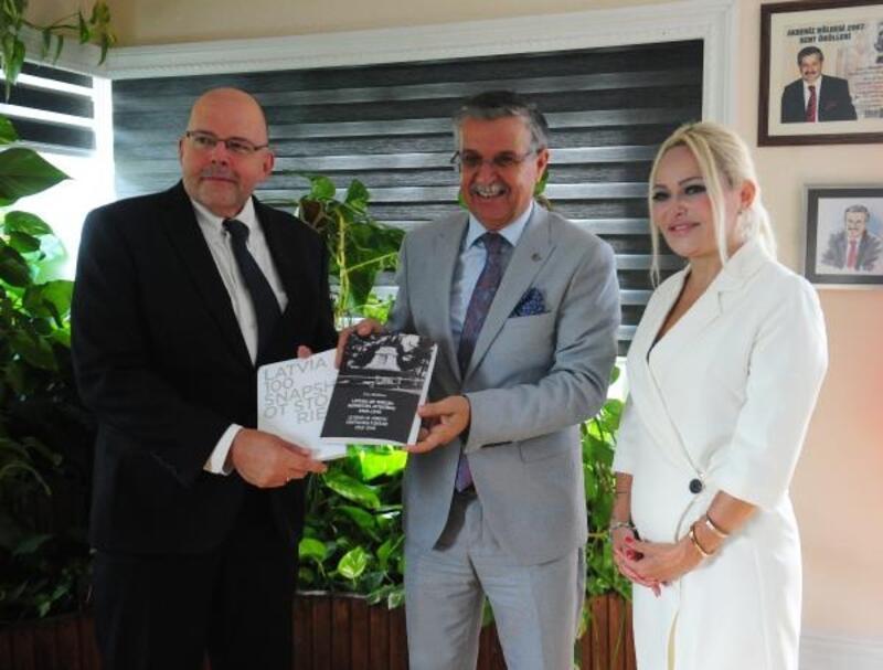 Letonya Büyükelçisinden Başkan Topaloğlu'na ziyaret