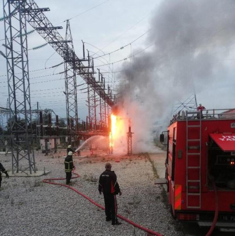 Bursa'da trafo merkezinde yangın
