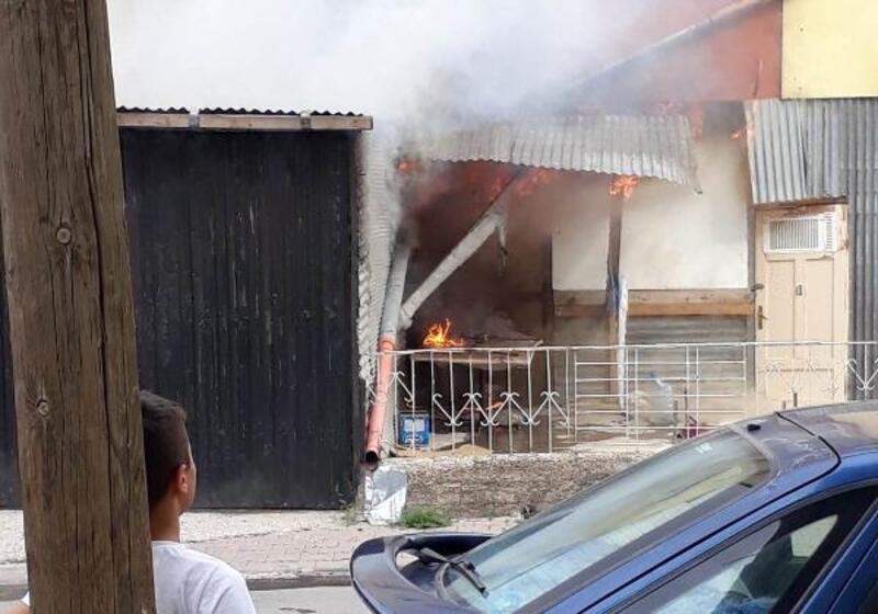 Sivas'ta garaj yangını
