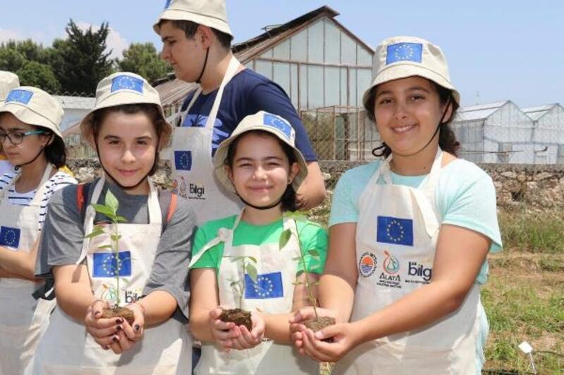 Çocuklar iyi tarım uygulamasını öğrenecek