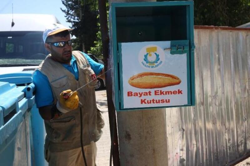 Haliliye Belediyesi ekmek kutularını değiştiriyor