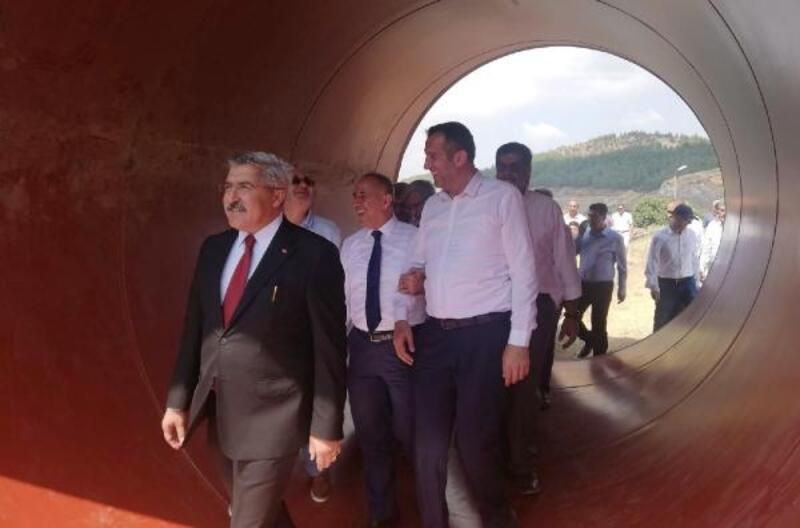 Tahtaköprü Baraj'ında set yükseltme çalışması başlatıldı