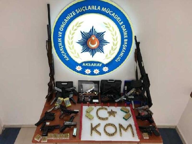 Aksaray'da silah kaçaklığı operasyonu: 10 gözaltı