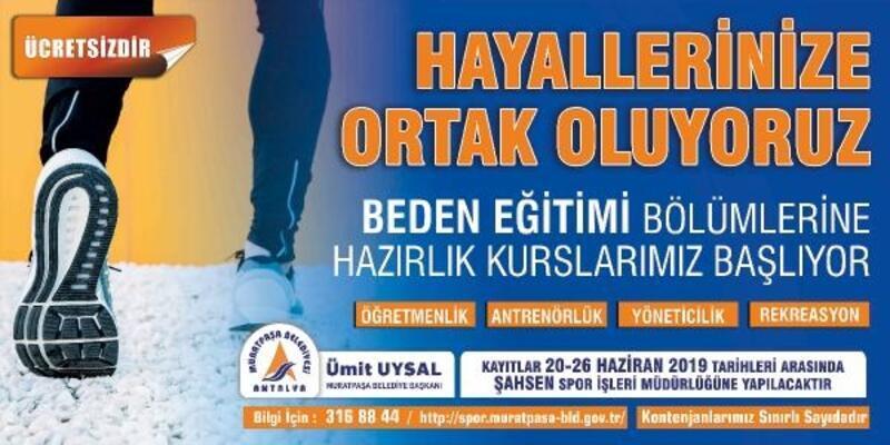 Muratpaşa sporda özel yetenek sınavına hazırlıyor