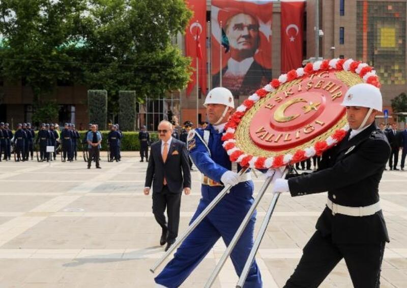 Atatürk'ün Eskişehir'e ilk gelişinin 99. yıl dönümü törenle kutlandı