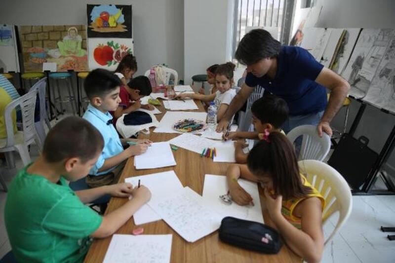 Haliliye'de resim kurslarına yoğun ilgi