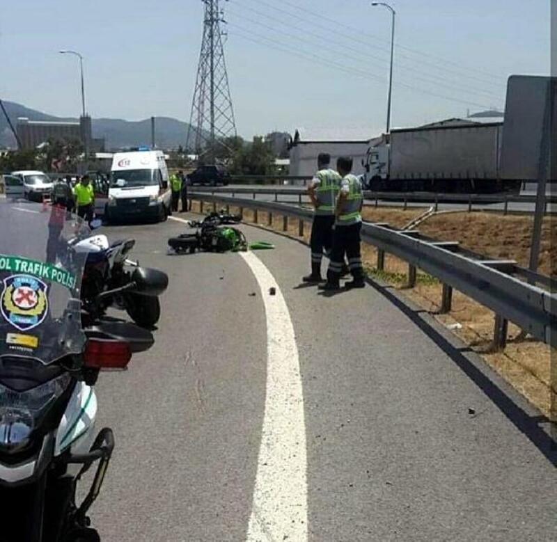 İki motosiklet art arda devrildi: 1 ölü, 1 yaralı