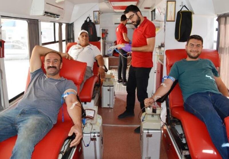 Korkuteli'nde kan bağışı